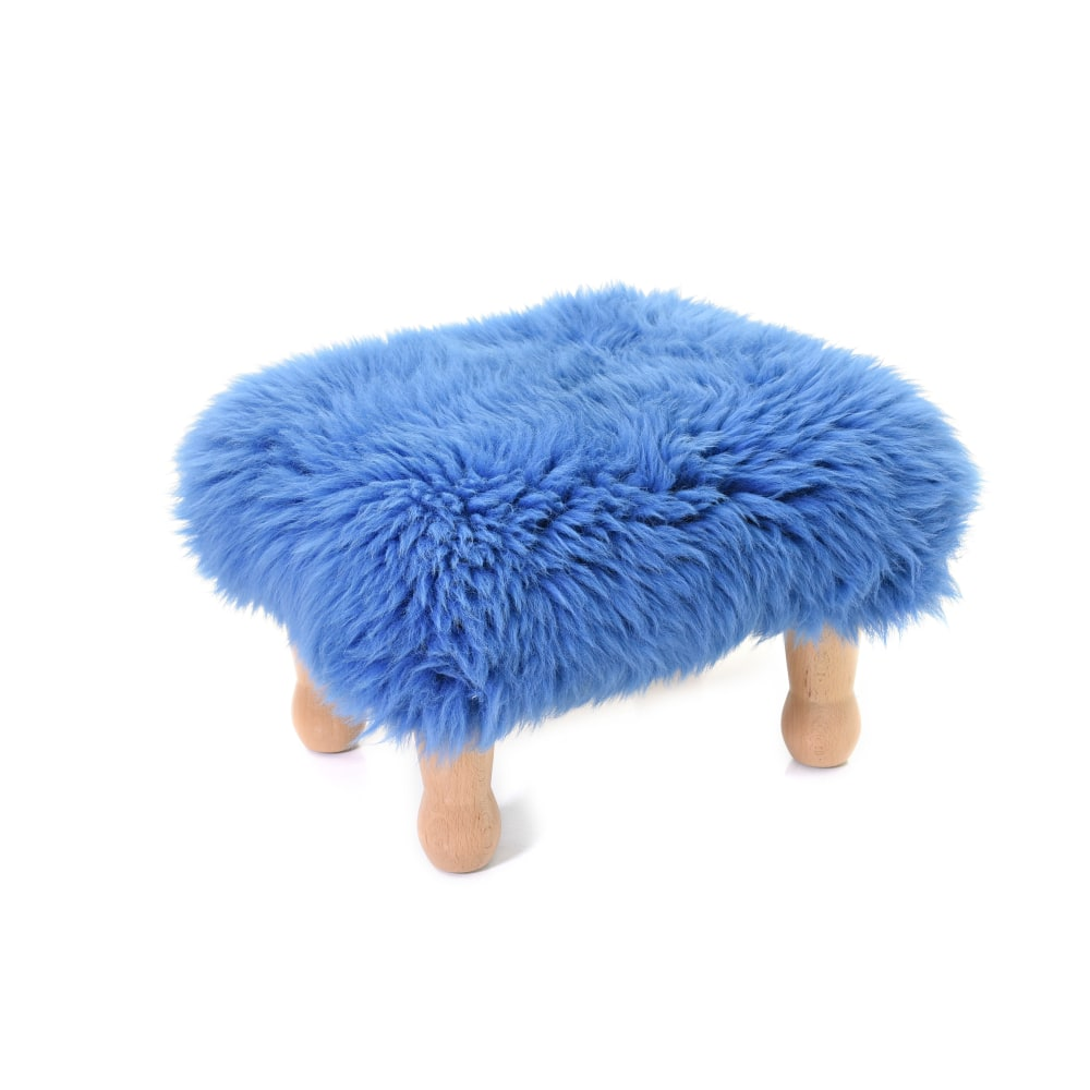 Angharad Baa Stool in Cornflower Blue