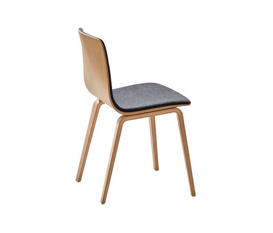 Aava Natural Birch Dining Chair by Arper by Arper