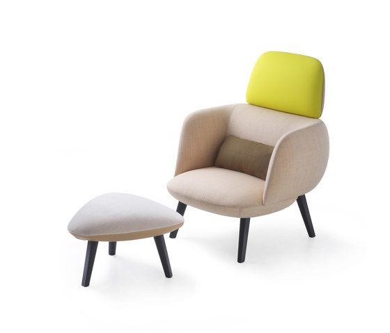 Betty High Armchair and Pouf by Maxdesign by Maxdesign