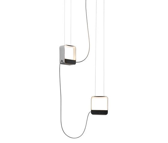 Eau de lumière Pendant light 2 Small Square by designheure by Designheure