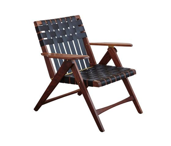 Folding Lounge Chair Walnut by Todd St. John by Todd St. John