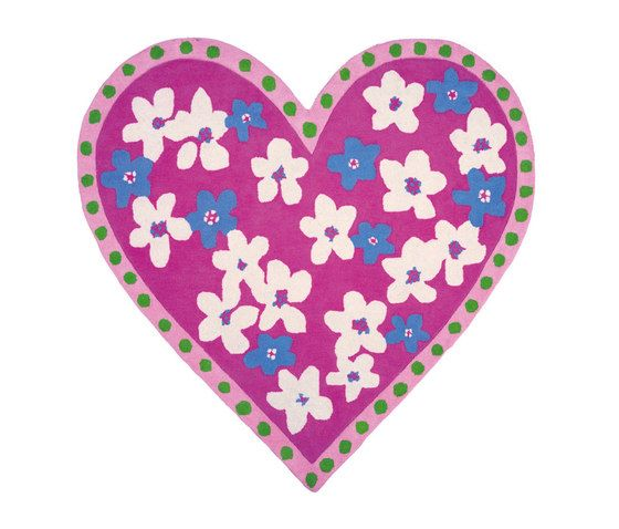 Kids Rugs - Candy Hearts Fuchsia by Designers Guild by Designers Guild