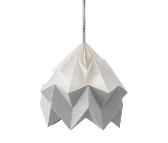 Moth Lamp - White/Grey by Studio Snowpuppe by Studio Snowpuppe