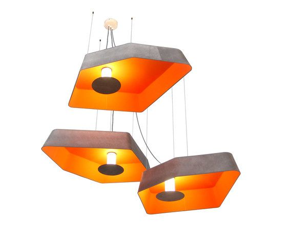 Nenuphar Trio Pendant light large LED by designheure by Designheure