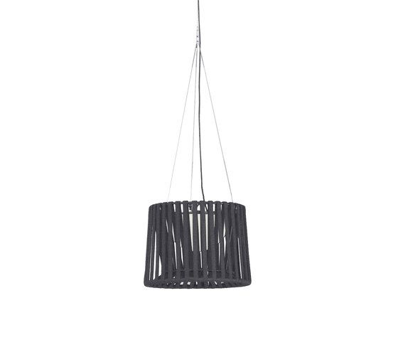 """Oh"" lamp Hand-woven suspension lamp by Expormim by Expormim"