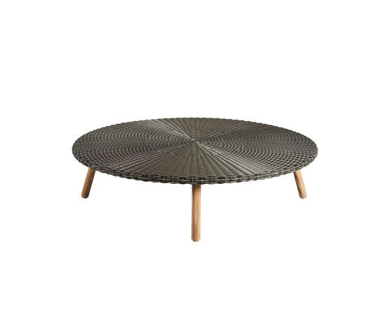 Round Coffee table weaving top by Point by Point