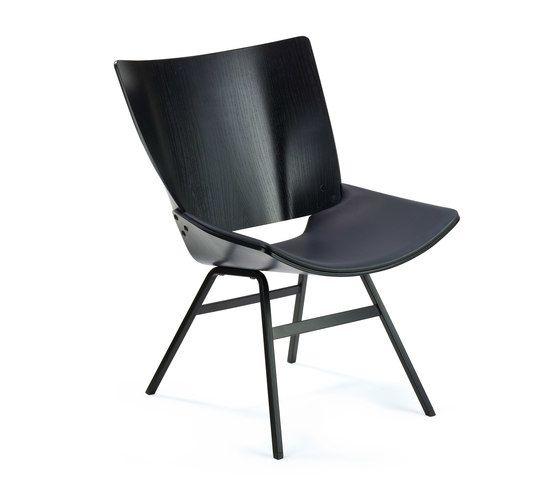 Shell Lounge Leather Seat by Rex Kralj by Rex Kralj