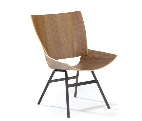 Shell Lounge walnut by Rex Kralj by Rex Kralj