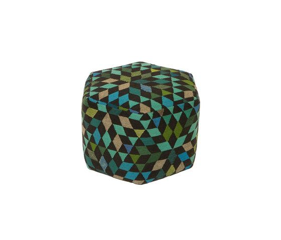 Triangles Pouf Diamond apple green high by GOLRAN 1898 by GOLRAN 1898