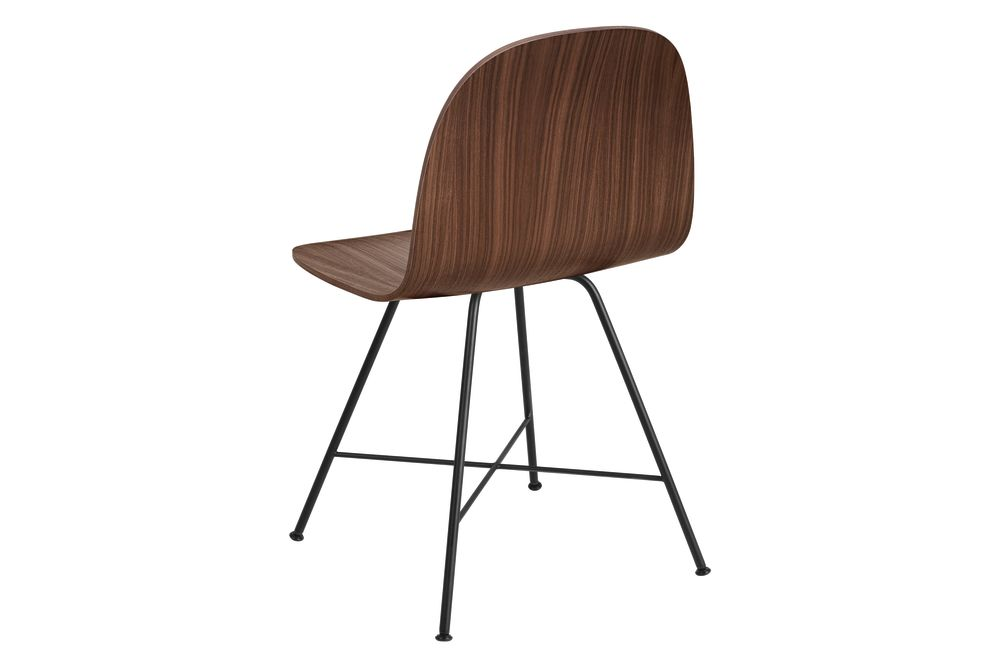 2D Dining Chair - Un-Upholstered, Center base by Gubi