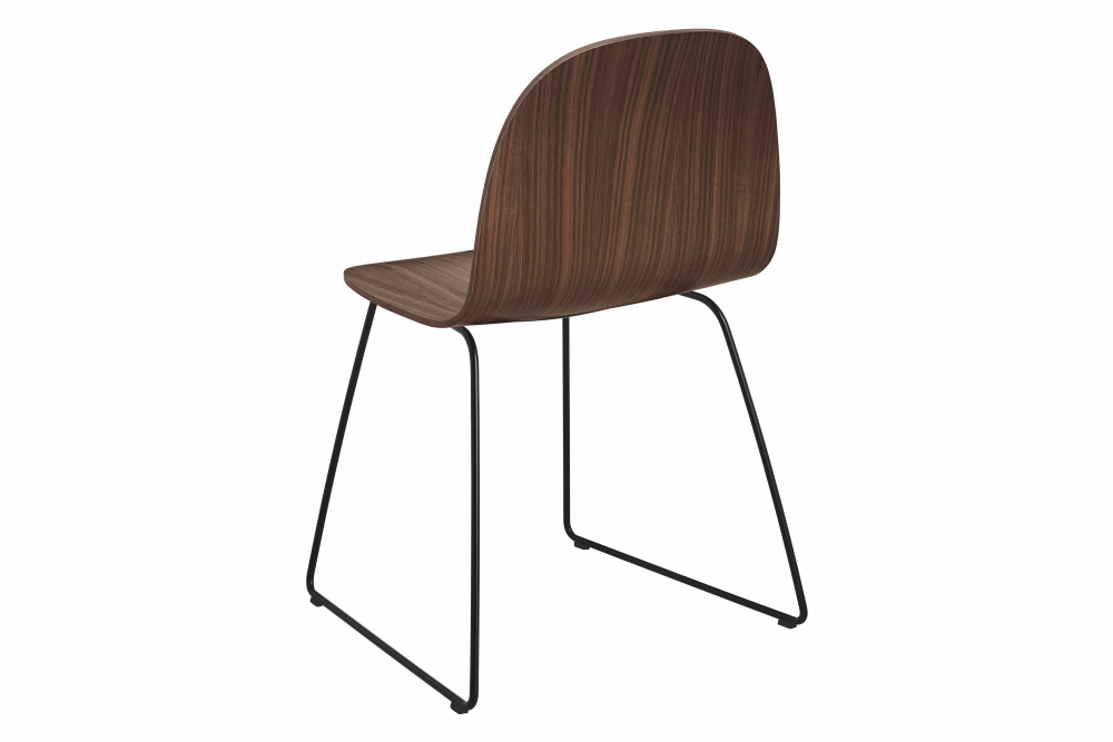Gubi Wood Oak, Gubi Metal Chrome, Felt Glides,GUBI,Dining Chairs,chair,furniture,wood