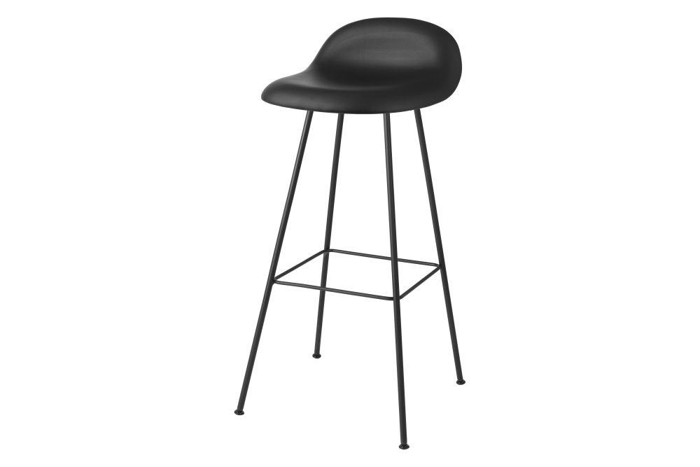 3D Bar Stool - Fully Upholstered, Center base by Gubi