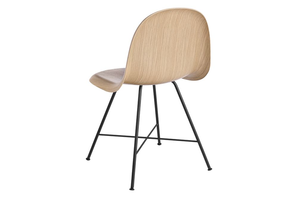 Gubi HiRek Black Semi Matt, Felt Glides,GUBI,Dining Chairs,beige,chair,furniture,table,wood