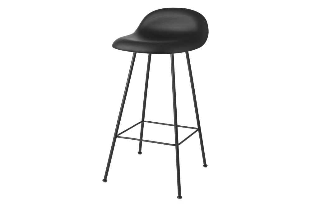 3D Counter Stool - Fully Upholstered, Center base by Gubi