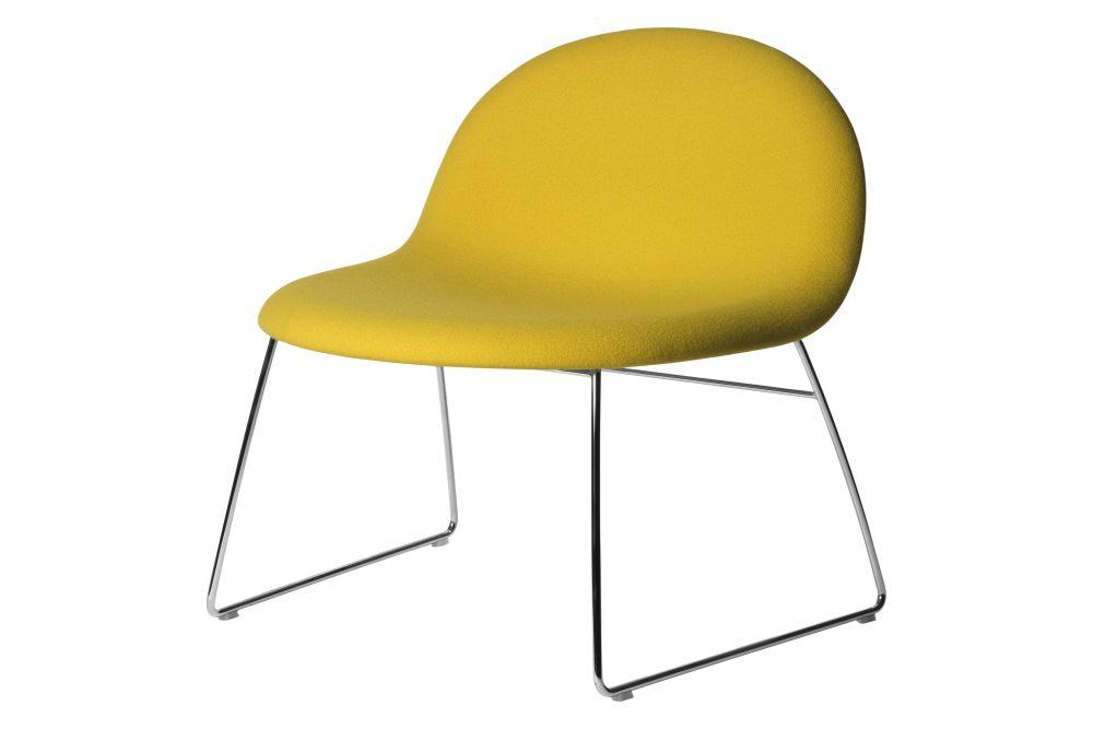 3D Lounge Chair - Fully Upholstered, Sledge Base by Gubi