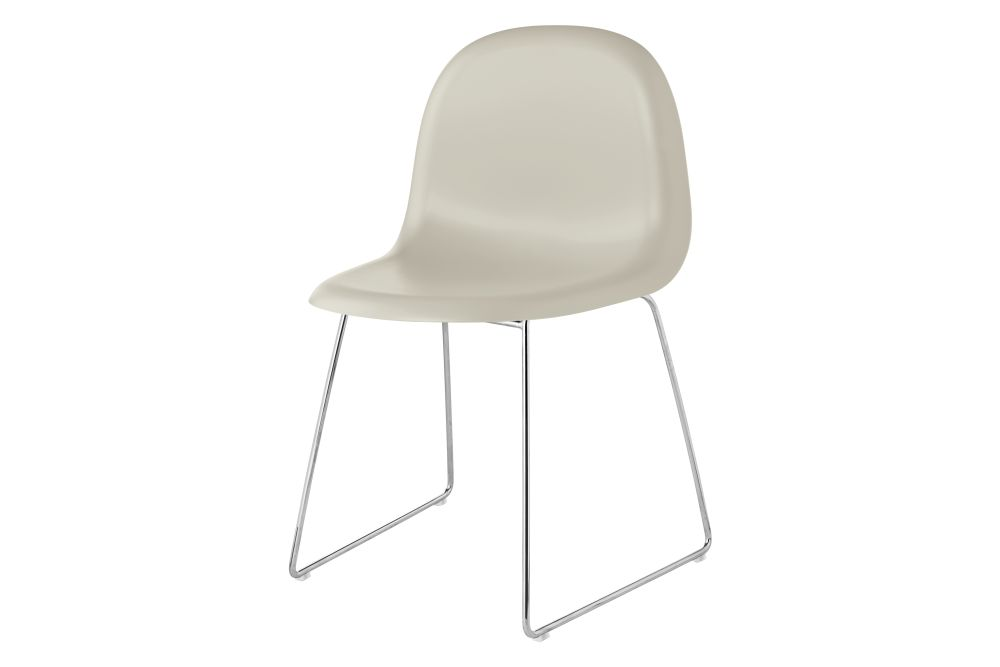 3D Dining Chair - Un-Upholstered, Sledge Base by Gubi