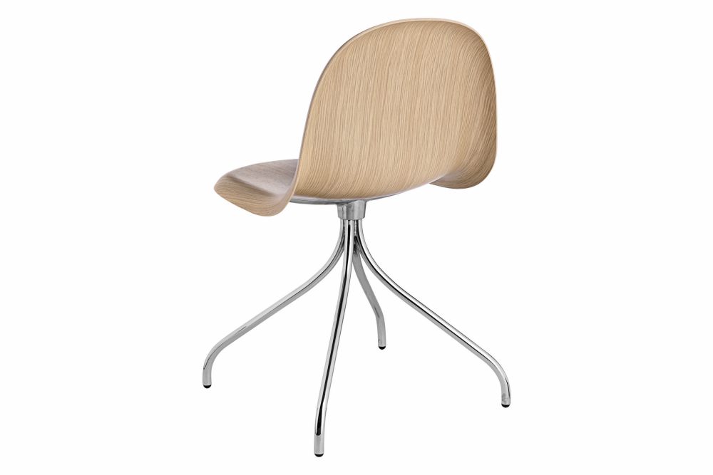 Gubi Wood Black Stained Beech, Gubi Metal Black, Plastic Glides,GUBI,Office Chairs,beige,chair,furniture,table,wood