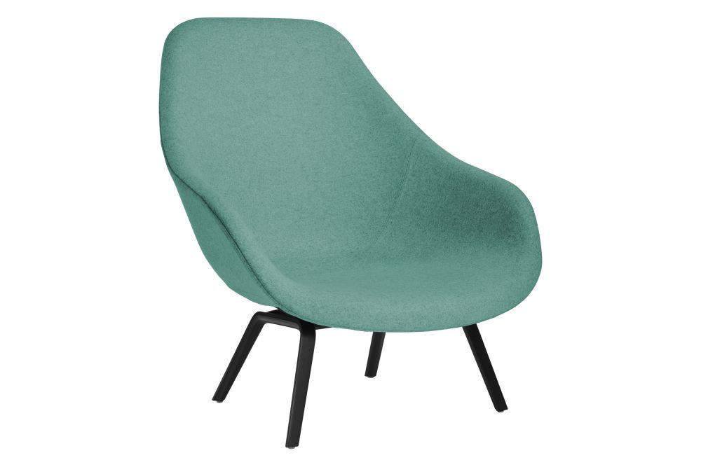 About A Lounge Chair AAL93, Black Stained Legs by Hay