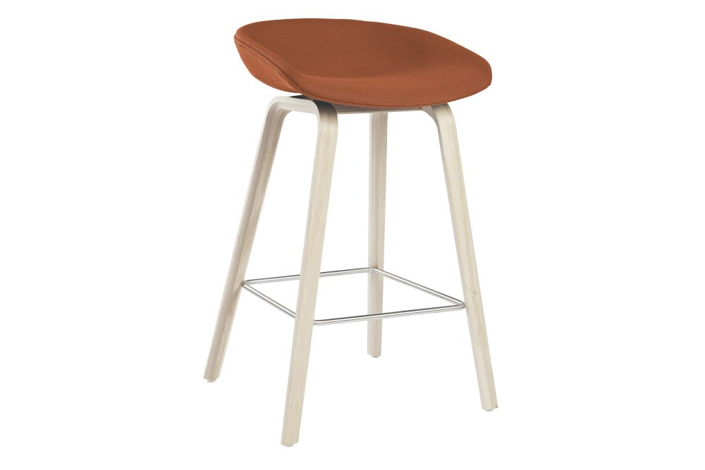 About A Stool AAS33 Low Stool, Soap Treated Oak Legs by Hay