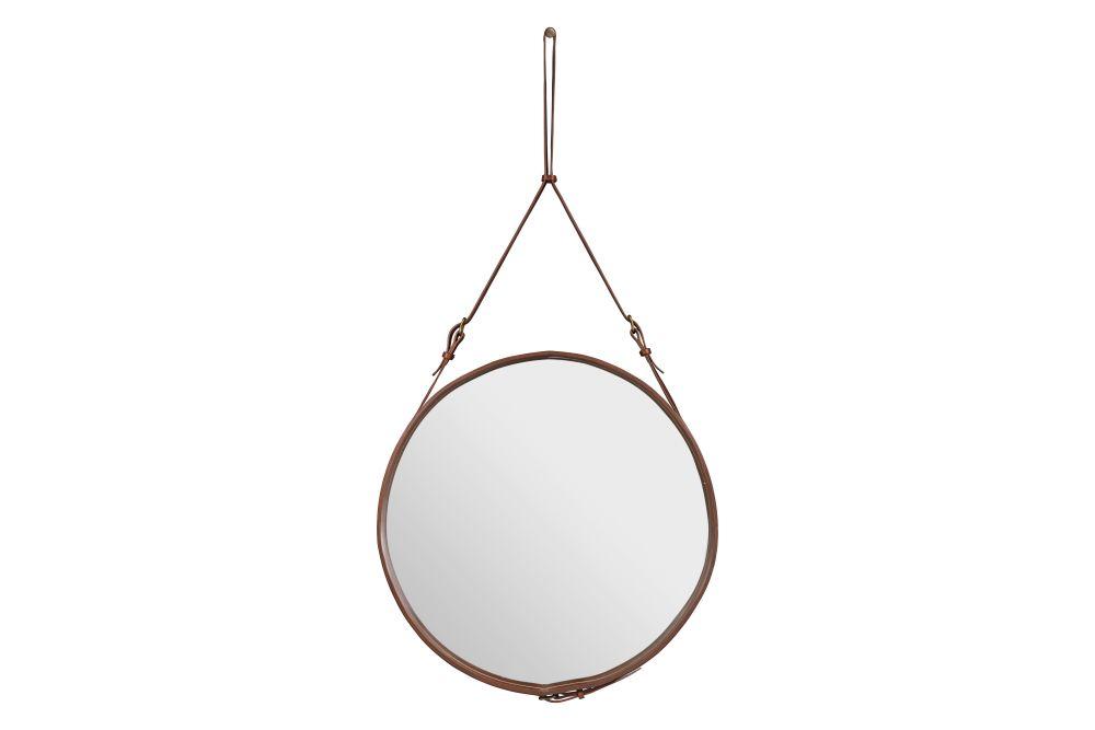 Adnet Wall Mirror, Circular, Ø70 by Gubi