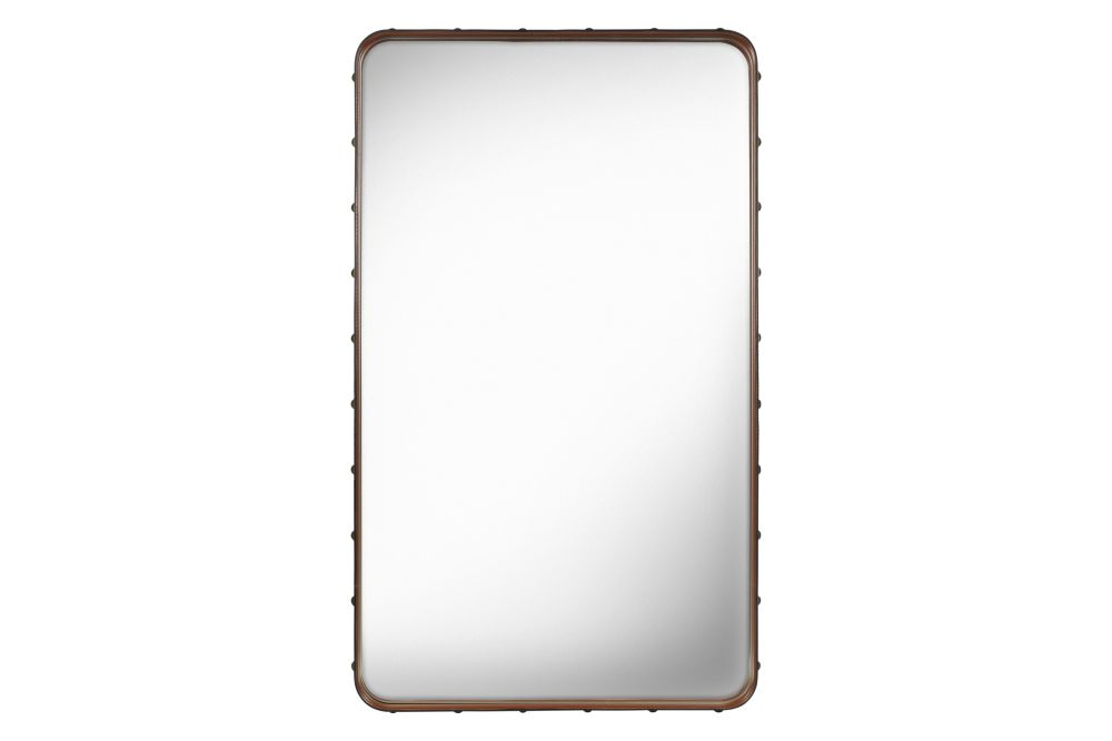 Adnet Wall Mirror, Rectangular, 65x115 by Gubi