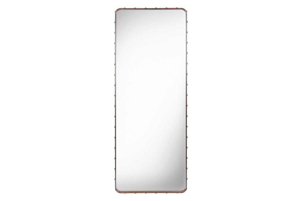 Adnet Wall Mirror, Rectangular, 70x180 by Gubi