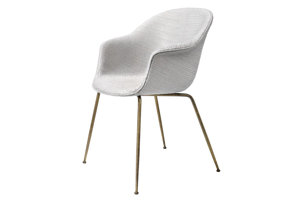 Bat Dining Chair - Fully Upholstered, Conic base by Gubi