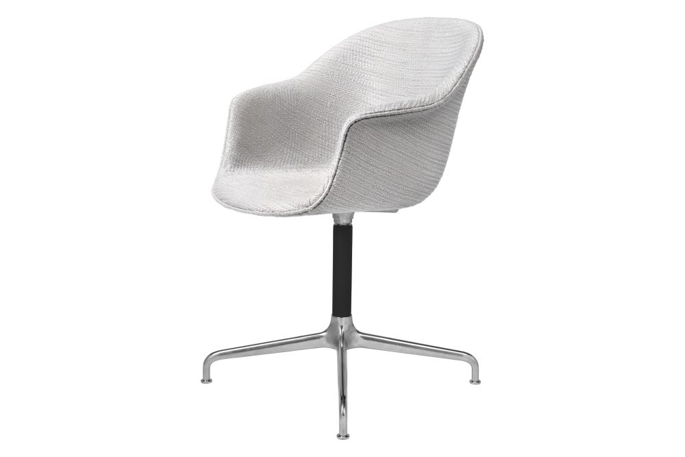 Bat Meeting Chair - Fully Upholstered, 4-star base by Gubi