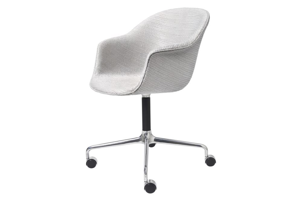 Bat Meeting Chair - Fully Upholstered, 4-star w. castors by Gubi