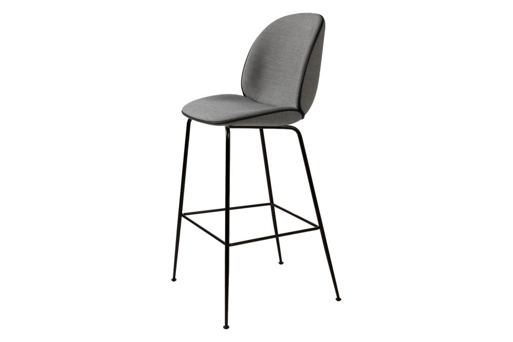 Beetle Bar Chair - Fully Upholstered, Conic Base by Gubi