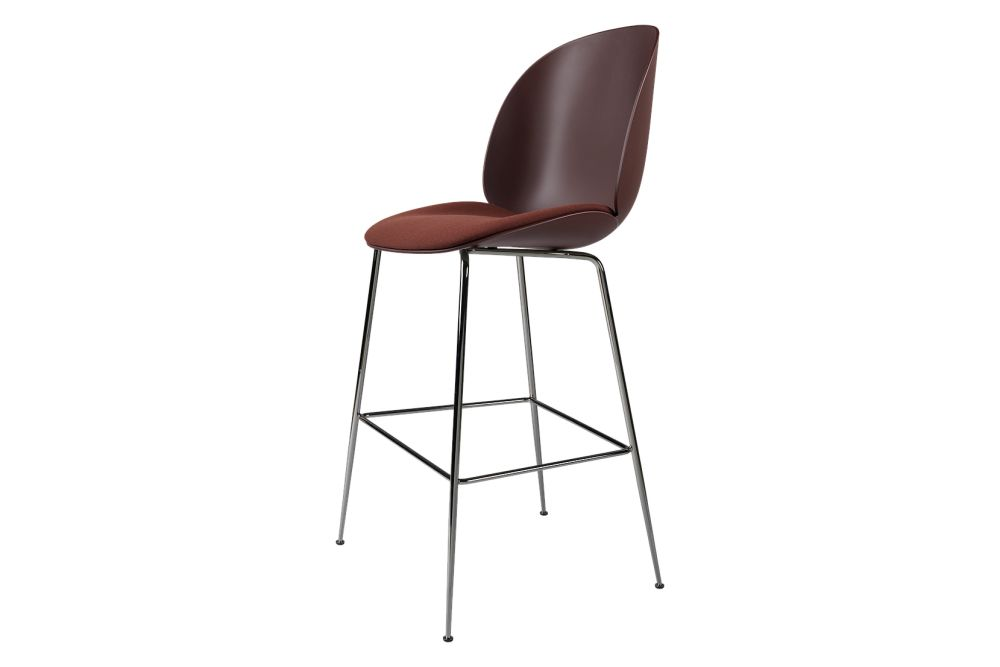 Beetle Bar Chair - Seat Upholstered, Conic Base by Gubi