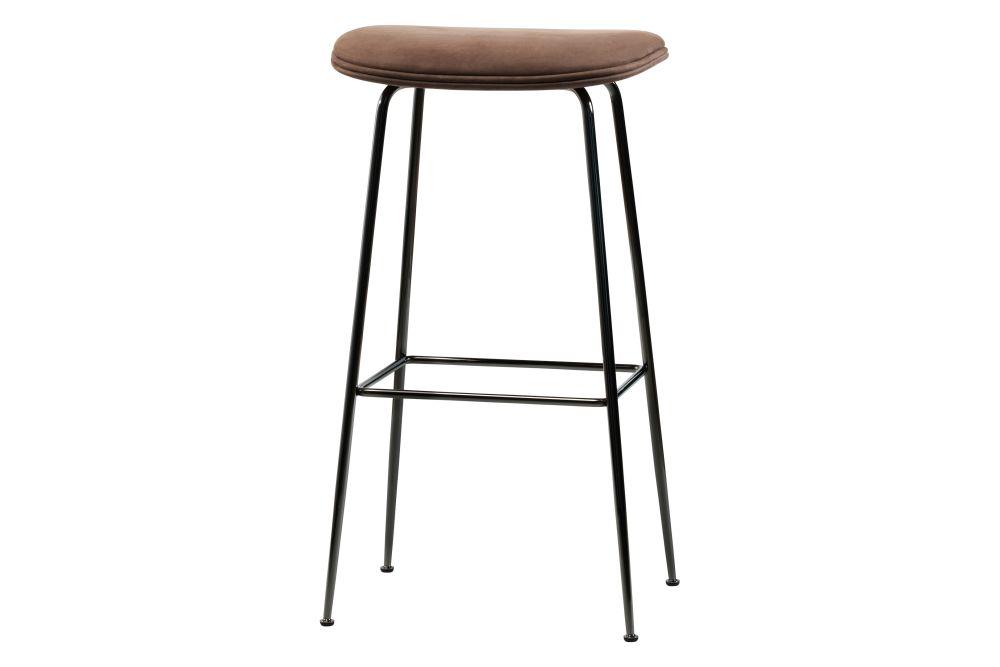 Beetle Bar Stool - Upholstered, Conic Base by Gubi