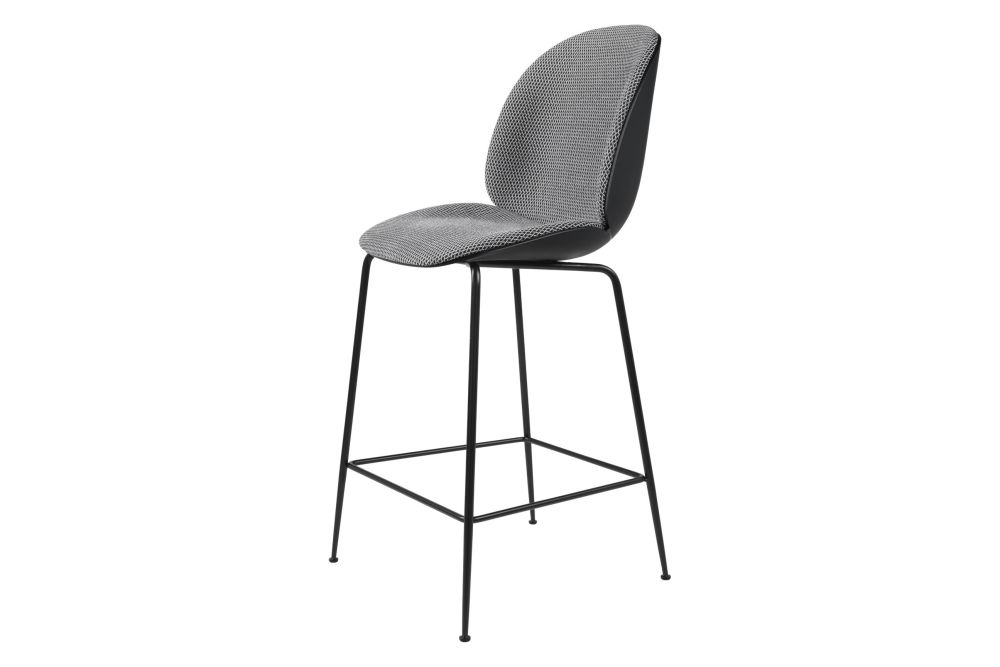 Beetle Counter Chair - Front Upholstered, Conic Base by Gubi