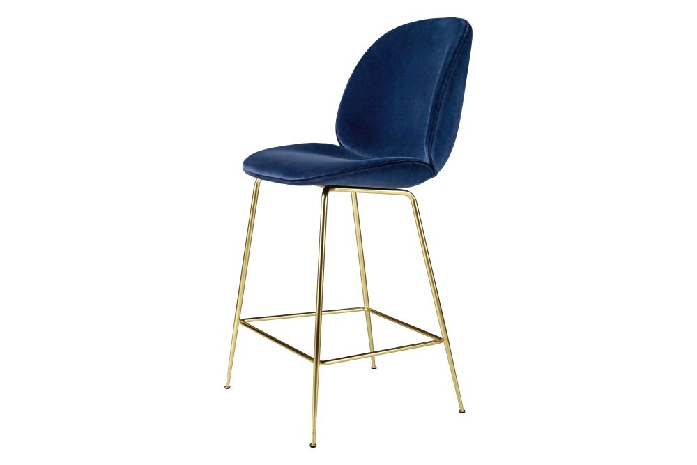 Beetle Counter Chair - Fully Upholstered, Conic Base by Gubi