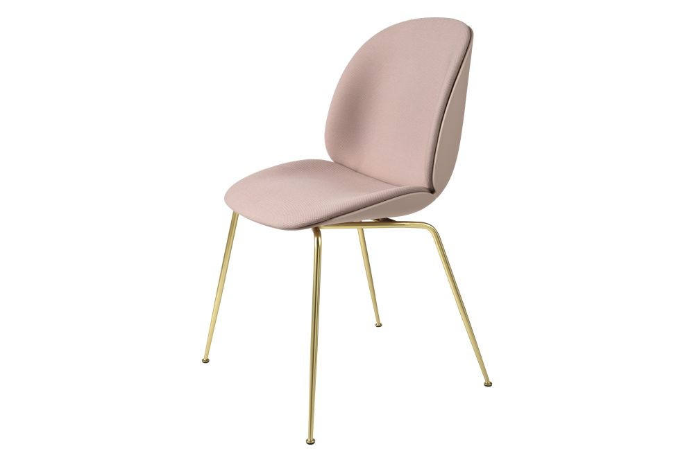 Beetle Dining Chair - Front Upholstered, Conic base by Gubi
