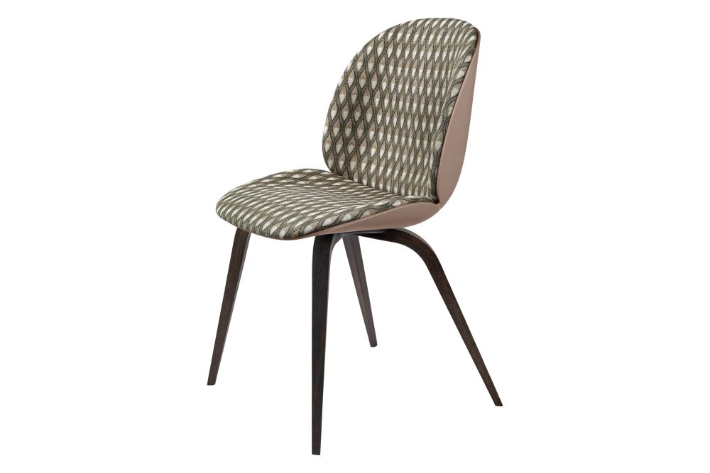 Beetle Dining Chair - Front Upholstered, Wood base by GUBI