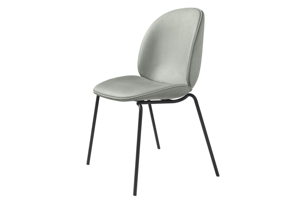 Beetle Dining Chair - Fully Upholstered, 4-leg, Stackable by Gubi