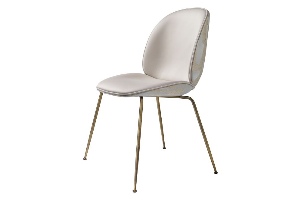 Beetle Dining Chair - Fully Upholstered, Conic base by Gubi