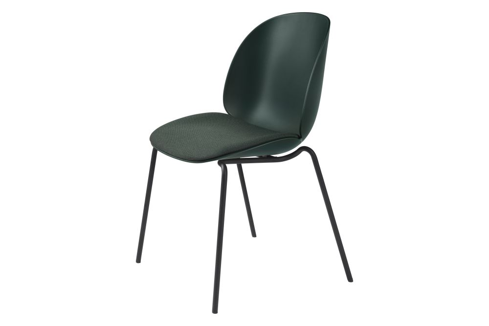Beetle Dining Chair - Seat Upholstered, 4-leg, Stackable by Gubi