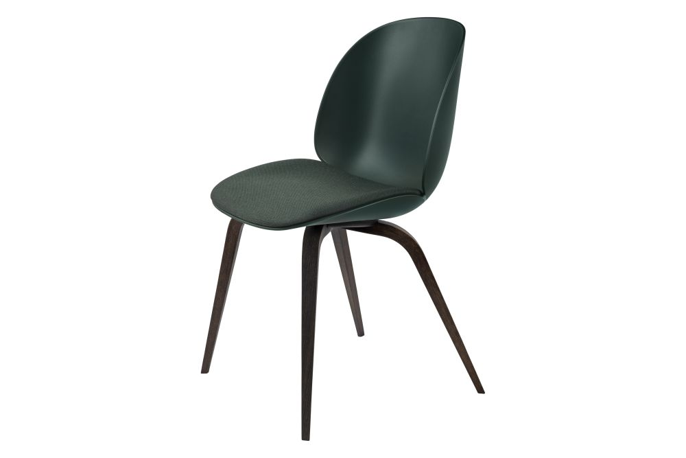 Beetle Dining Chair - Seat Upholstered, Wood base by Gubi