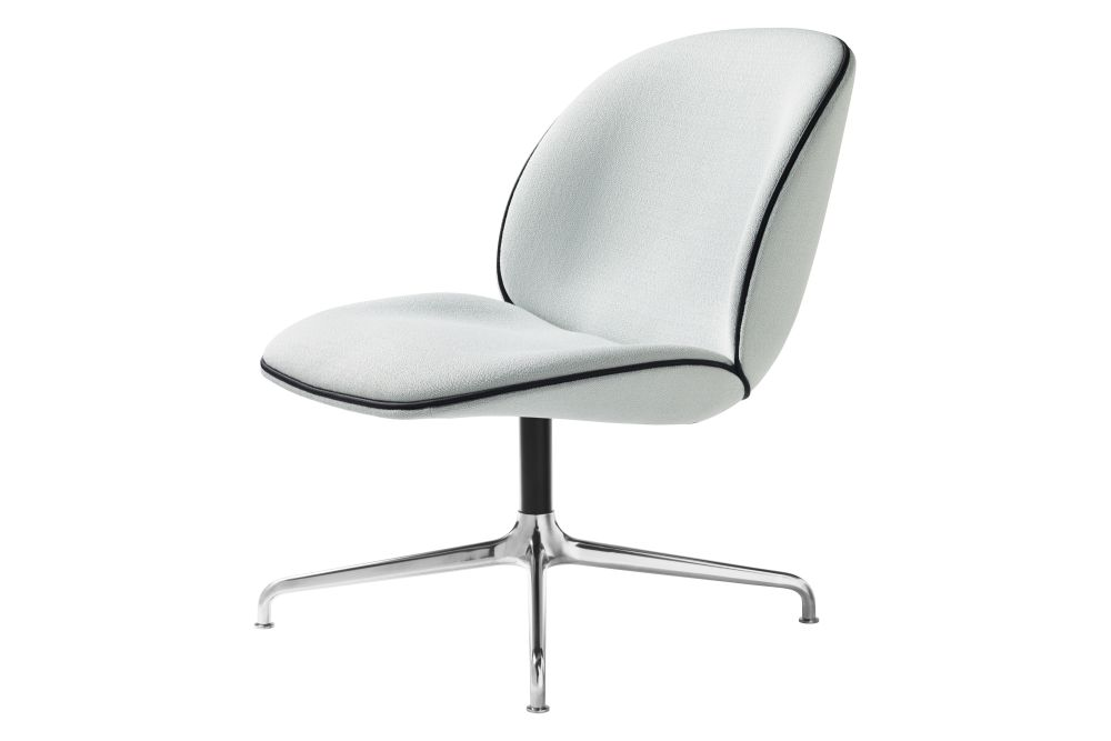 Beetle Lounge Chair - Fully Upholstered, 4-star base by Gubi