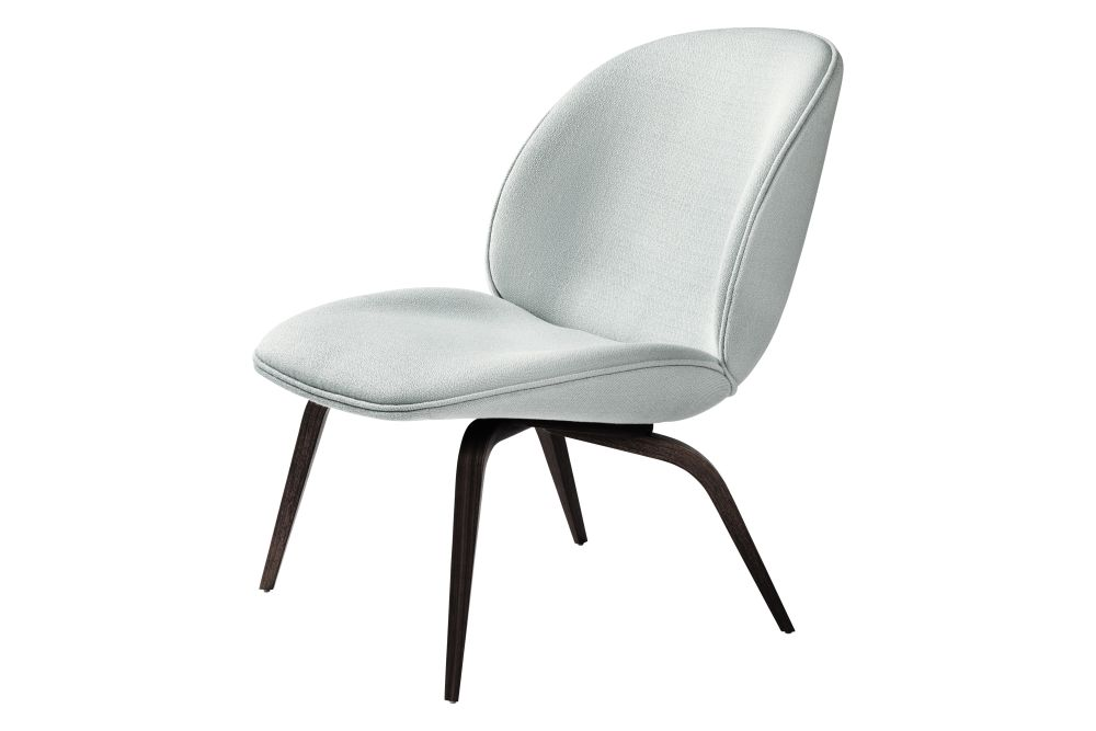 Beetle Lounge Chair - Fully Upholstered, Wood base by Gubi