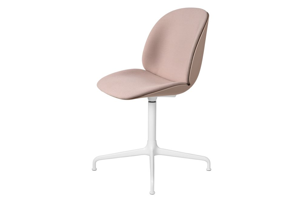 Beetle Meeting Chair - Front Upholstered, 4-star base by Gubi