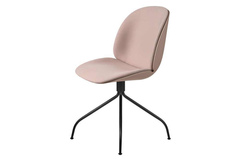 Beetle Meeting Chair - Front Upholstered, Swivel base by Gubi