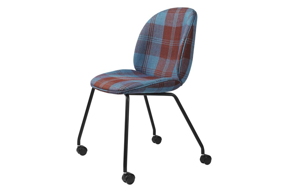 Beetle Meeting Chair - Fully Upholstered, 4 legs w. castors by Gubi