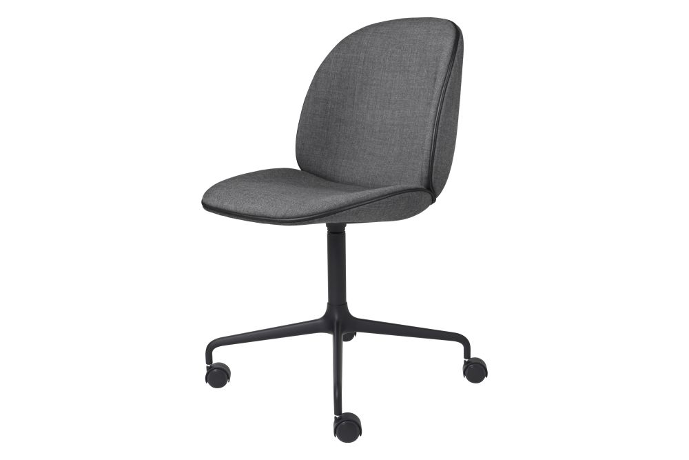 Beetle Meeting Chair - Fully Upholstered, 4-star w. castors by Gubi