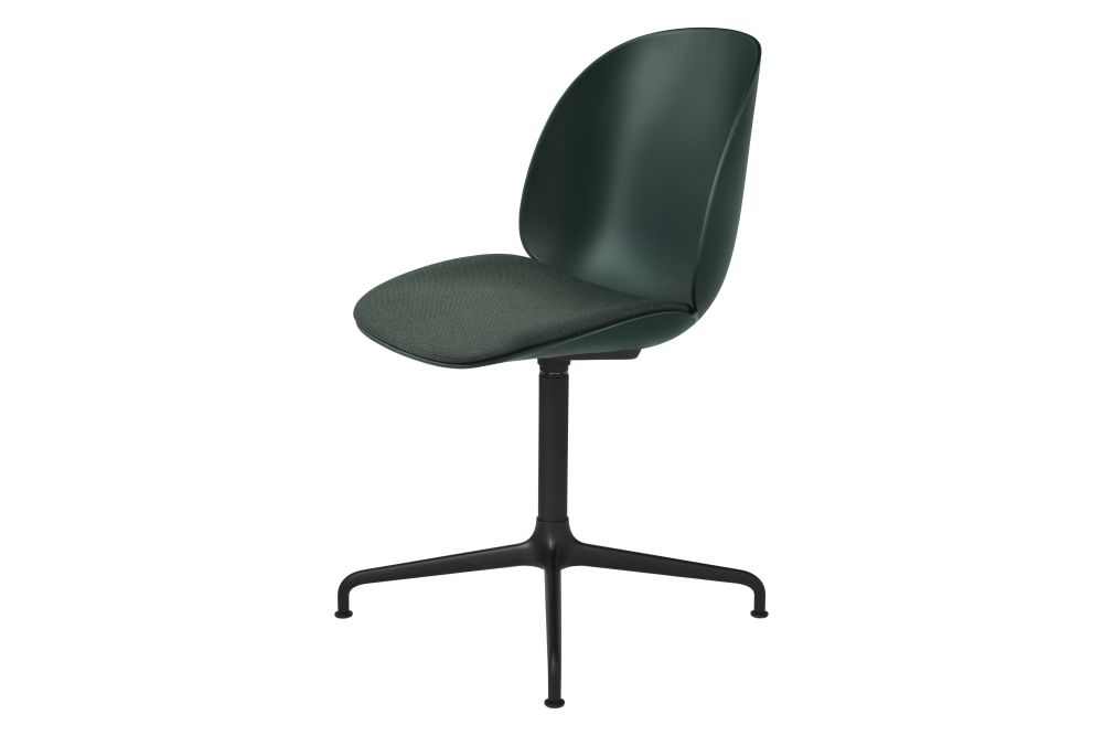 Beetle Meeting Chair - Seat Upholstered, 4 - Star Base by Gubi