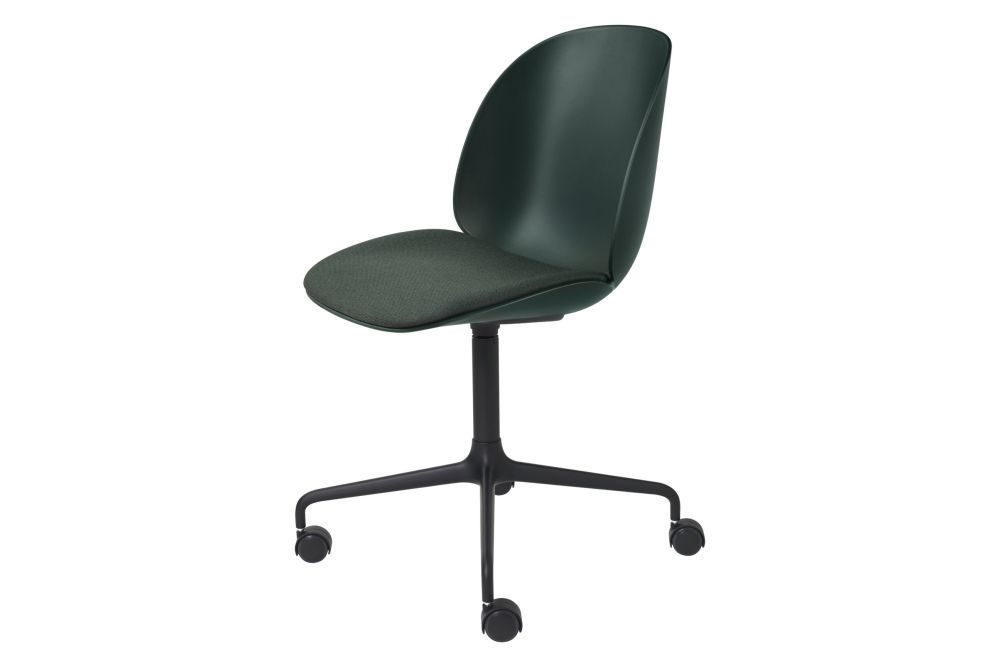 Beetle Meeting Chair - Seat Upholstered, 4 - Star with Castors by Gubi