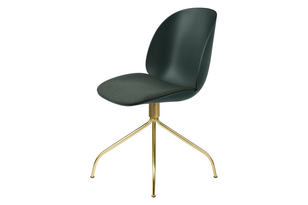 Beetle Meeting Chair - Seat Upholstered, Swivel Base by Gubi