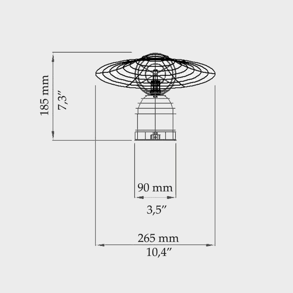 Bonbon/Disc Table Lamp by Intueri Light